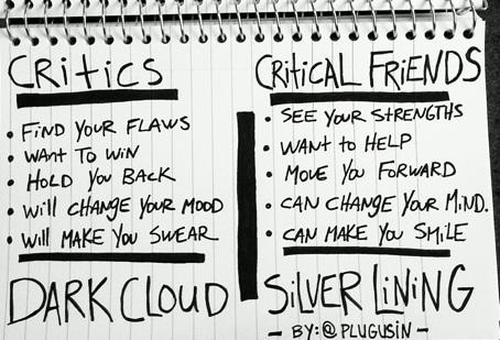 The best Friend is a 'Critical Friend'